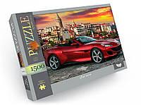 Пазлы 1500 элементов C1500-04-01-10 (Красное авто), пазлы для детей,пазл,детские пазлы,пазл для малышей