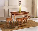 Стол обеденный Смарт нераскладной темный орех 100*60см, фото 4