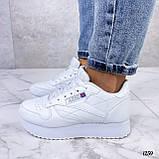 Стильные кроссовки женские белые эко-кожа, фото 2
