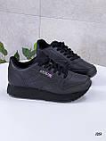 Стильные кроссовки женские черные эко-кожа, фото 3