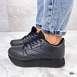 Стильные кроссовки женские черные эко-кожа, фото 5
