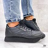 Стильные кроссовки женские черные эко-кожа, фото 6