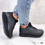 Стильные кроссовки женские черные эко-кожа, фото 7