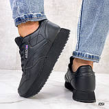 Стильные кроссовки женские черные эко-кожа, фото 9