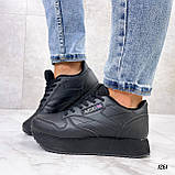Стильные кроссовки женские черные эко-кожа, фото 8