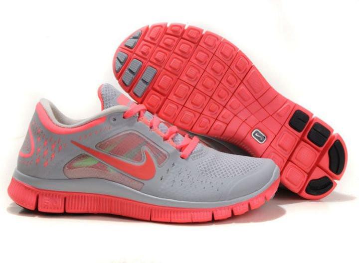fcc25f32 Кроссовки женские беговые Nike Free Run Plus 3 (в стиле найк фри ран) серые