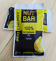 Натуральный батончик с протеином Nut Bar Лимонная груша. 40г