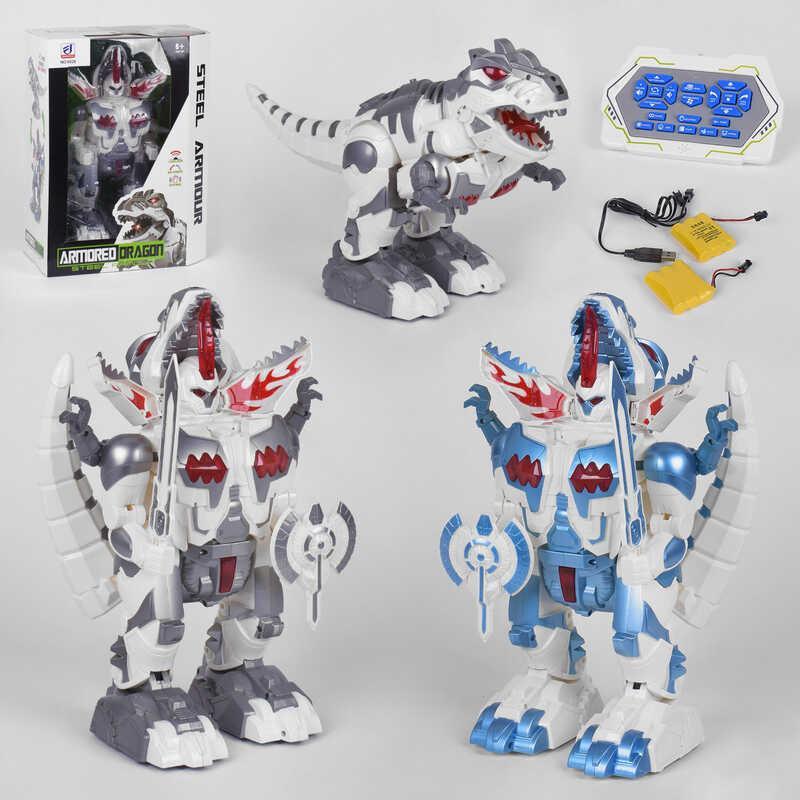 Динозавр на р/у 6028 (6) 2 цвета, аккумулятор 2х3,6 V,  в коробке