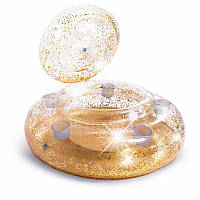 Надувной круг - плавающий бар, термо-резервуар для напитков «Золотой блеск», Intex 56810, 74 см
