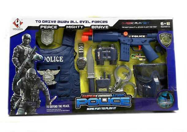Набор полиции P 013 (12) звук, в коробке
