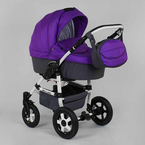 Коляска для детей  Saturn НОВАЯ  № 0140-С12 (1) цвет фиолетовый, фото 2