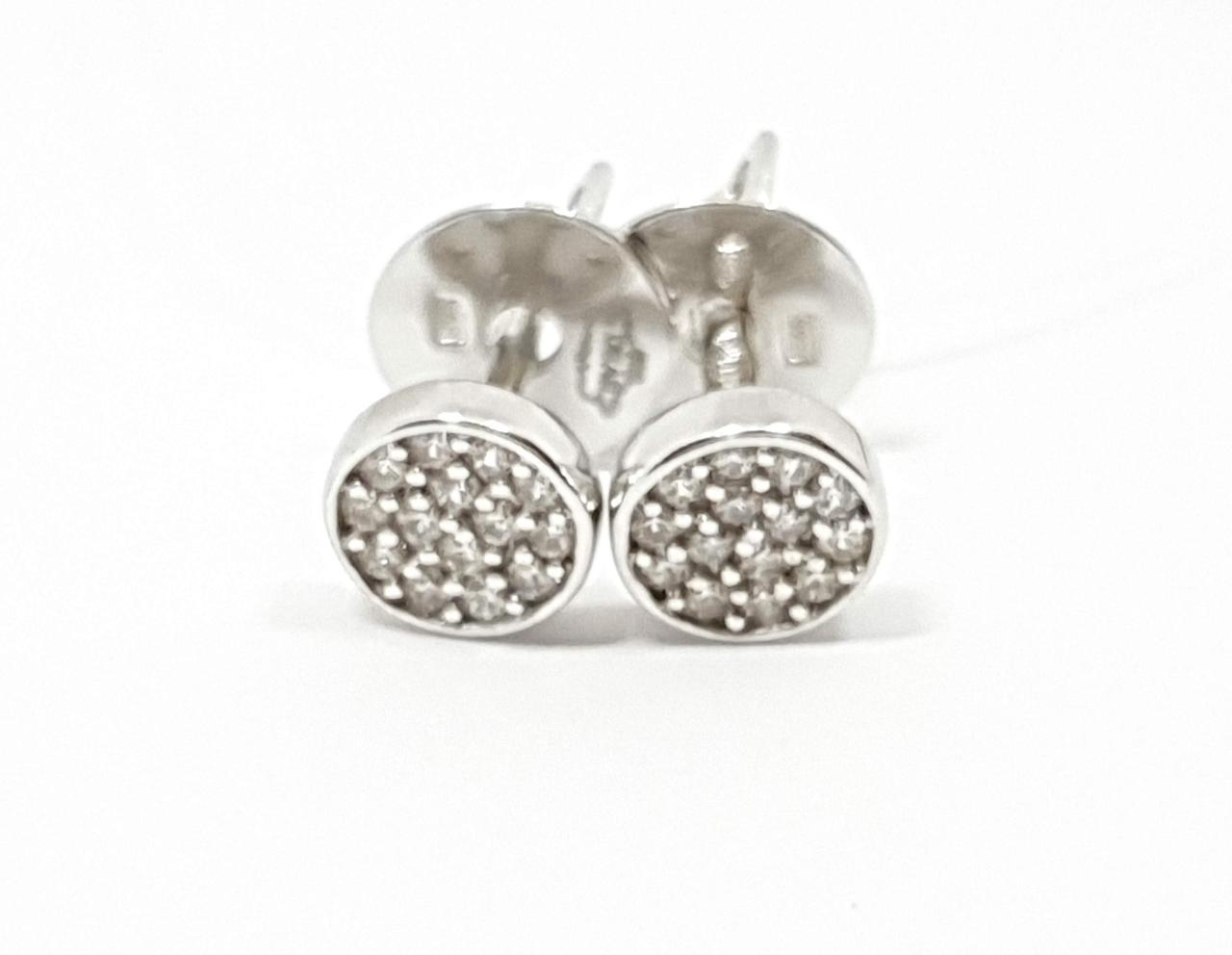 Серебряные пуссеты с фианитами. Артикул 3365.1С