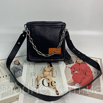 Женская кожаная сумка на и через плечо с цепочкой Polina & Eiterou