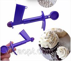 Пистолет кондитерский Инструмент аппликатор для декорирования украшения торта сахарными бусинками жемчугом
