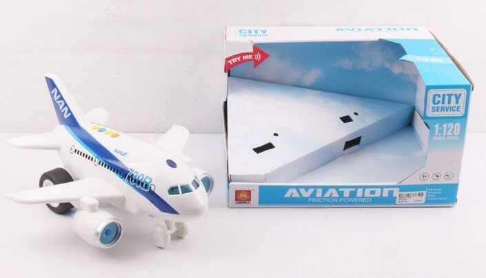 Самолёт WY 730 АB (12) 2 вида, свет, звук, в коробке