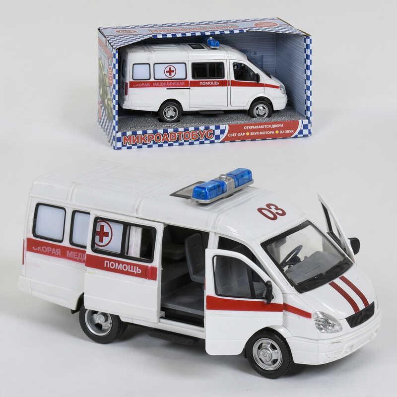 """Машина 9098 C (24/2) """"Play Smart"""" открываются двери, звук, свет фар, на батарейках, в коробке"""