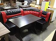 Кухонный угол Медиум - черно-красный глянцевый цвет, фото 6