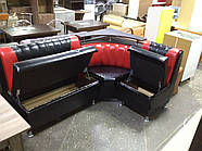 Кухонный угол Медиум - черно-красный глянцевый цвет, фото 4