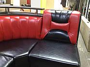 Кухонный угол Медиум - черно-красный глянцевый цвет, фото 3
