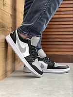 Мужские кроссовки Nike Air Jordan 1 low Black toe gray Мужские Баскетбольные Кроссовки Джордан