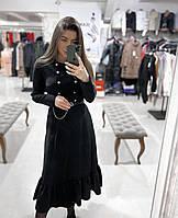 Жіноче плаття чорне з пуговицями