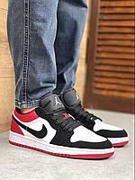 Мужские кроссовки Nike Air Jordan 1 low красный белый черный Мужские Баскетбольные Кроссовки Джордан