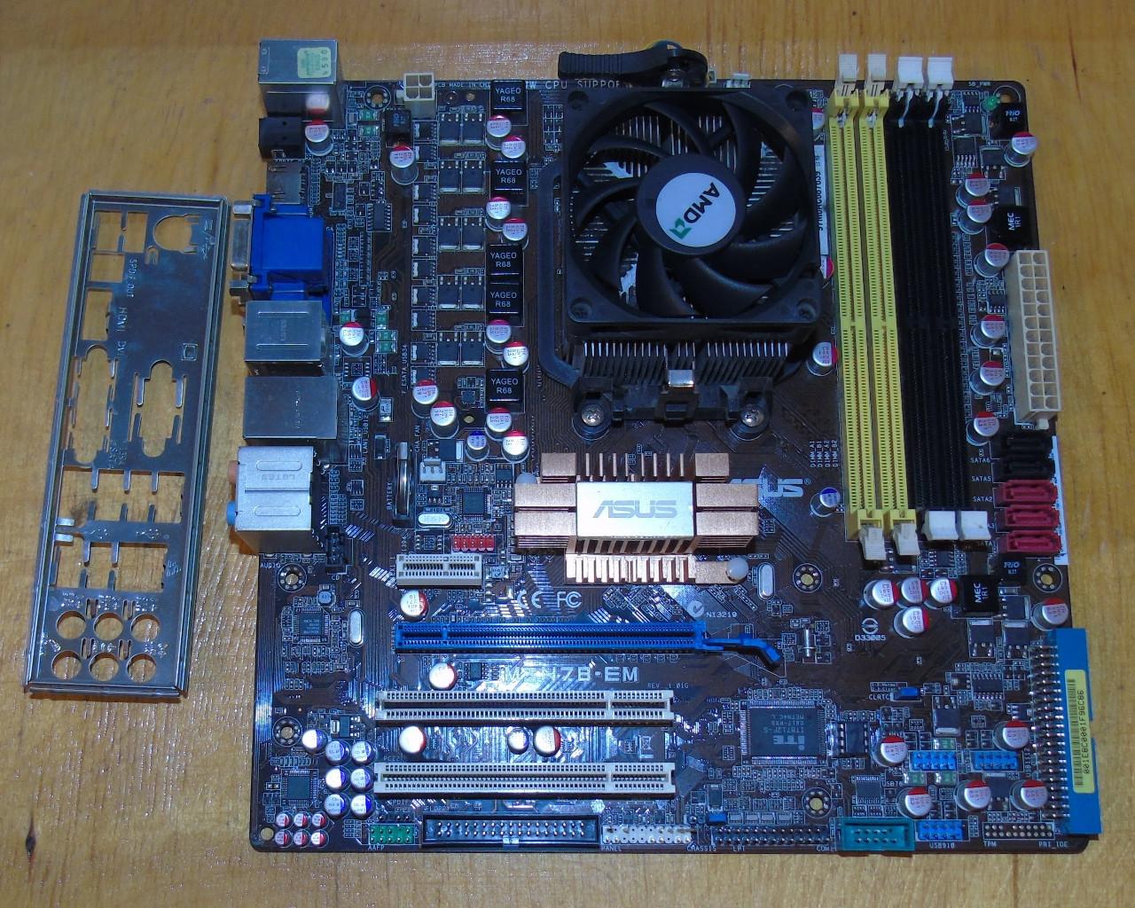 AM3 Материнская плата Asus M3N78-EM @+ Процессор AMD Athlon II X3 435