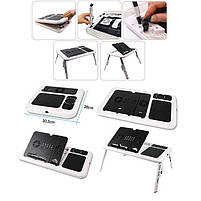 Складной столик-подставка для ноутбука с кулером E-Table LD09, фото 4