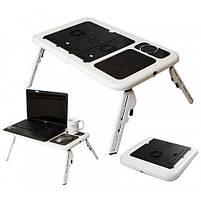 Складной столик-подставка для ноутбука с кулером E-Table LD09, фото 5