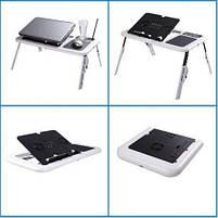 Складной столик-подставка для ноутбука с кулером E-Table LD09, фото 6