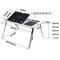 Складной столик-подставка для ноутбука с кулером E-Table LD09, фото 7