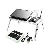 Складной столик-подставка для ноутбука с кулером E-Table LD09, фото 8