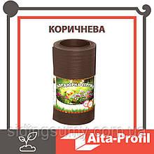 Лента бордюрная для огорода  Альта-Профиль расширенная 0,5х150х9000 мм коричневый