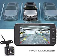 Автомобильный видеорегистратор +камера заднего хода T652 FULL HD, фото 2
