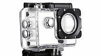 Экшн камера A7 FullHD + аквабокс + Регистратор Полный компект+крепление шлем СЕРЕБРО, фото 3