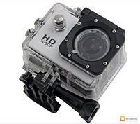 Экшн камера A7 FullHD + аквабокс + Регистратор Полный компект+крепление шлем СЕРЕБРО, фото 5