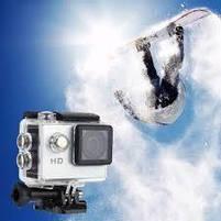Экшн камера A7 FullHD + аквабокс + Регистратор Полный компект+крепление шлем СЕРЕБРО, фото 7
