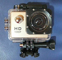 Экшн камера A7 FullHD + аквабокс + Регистратор Полный компект+крепление шлем СЕРЕБРО, фото 8
