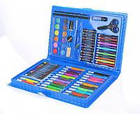 Набор для детского творчества и рисования Painting Set 86 предметов детский в чемоданчике Голубой, фото 2