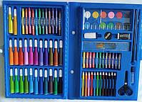 Набор для детского творчества и рисования Painting Set 86 предметов детский в чемоданчике Голубой, фото 3