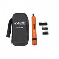 Аккумуляторная отвертка Sturm AS3503B (3.6В, 1,5Ач, в сумке)