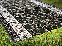 Ворсовая зелёная ковровая дорожка Lotos, Karat Carpet: 100(ост.3,03); 150; 200 см