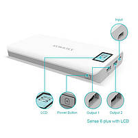 Power Bank Romoss LCD 50000mAh Sense 6 PLUS 2USB, повербанк с экраном, мощный портативный аккумулятор, фото 4