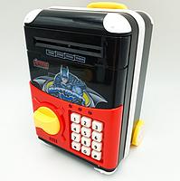 Игрушечный детский сейф 1808Z с электронным кодовым замком, копилка чемодан на колёсах Супергерои, фото 2