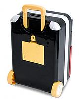 Игрушечный детский сейф 1808Z с электронным кодовым замком, копилка чемодан на колёсах Супергерои, фото 4
