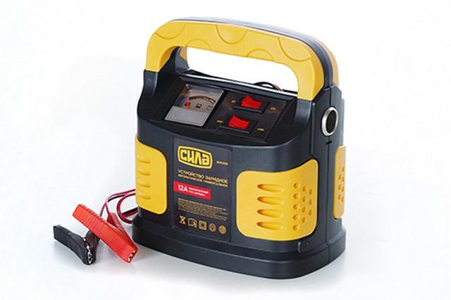 Зарядное устройство СИЛА 12A  6V-12V (900206) стрелочный индикатор
