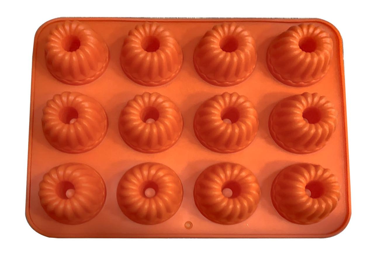Форма для випічки силіконова Втулка 12 шт