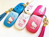 Hello Kitty W88 1 sim раскладной телефон для девочки хеллоу китти на 1 сим-карту