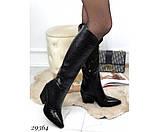 Сапоги питон,евро зима на каблуке, фото 5