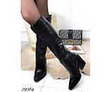Сапоги питон,евро зима на каблуке, фото 4